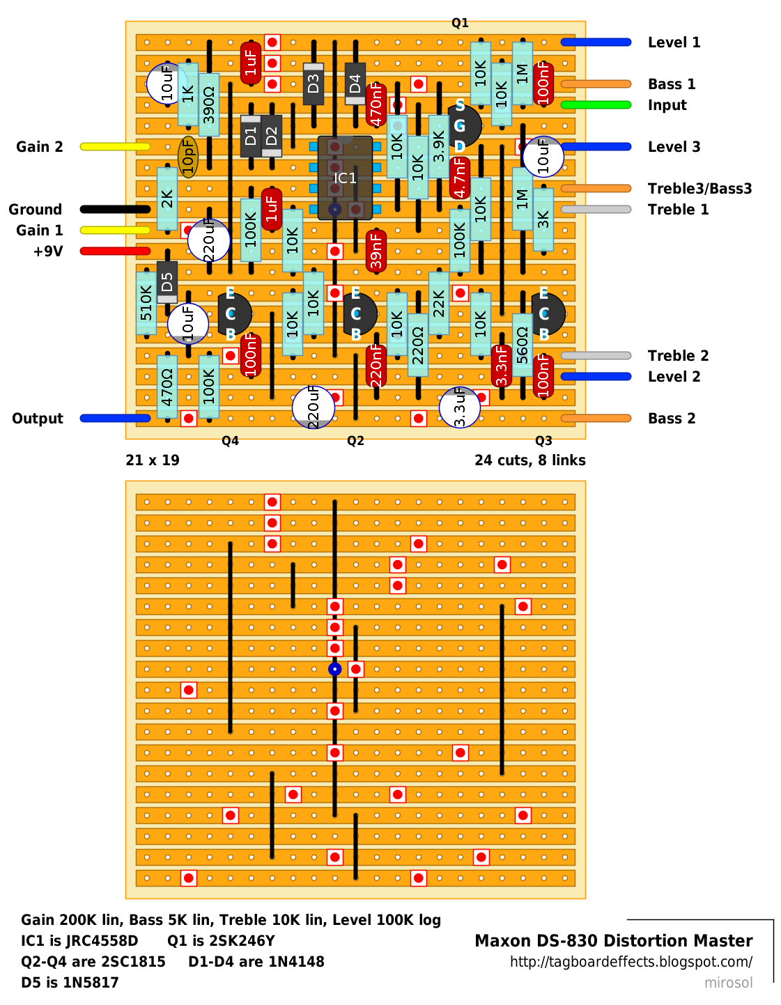 Guitar Fx Layouts Maxon Ds 830 Distortion Master 3 Way Switch Wiring Diagram Posted By Mirosol At 1012