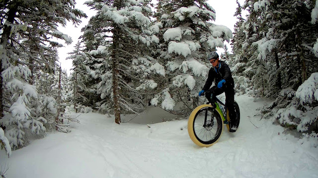 Snow Riding on fat Bike