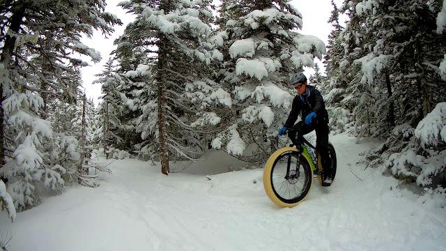 Snow Riding on fat Bike