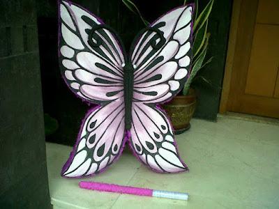 pinata ulang tahun, pinata murah, pembuat pinata, Pinata / Piñata Butterfly, pinata kupu kupu