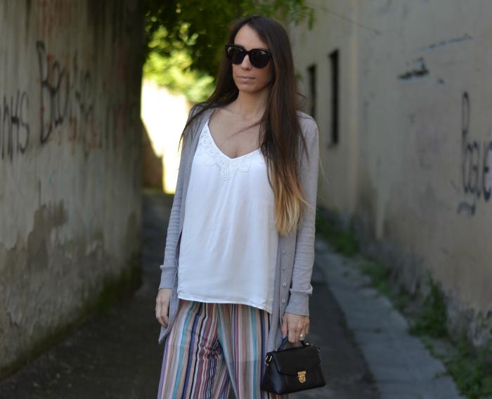 outfit gravidanza pantaloni palazzo