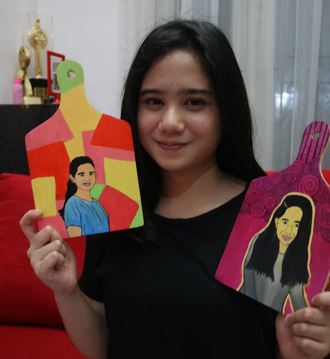 Tissa Biani Azzahra Senyum