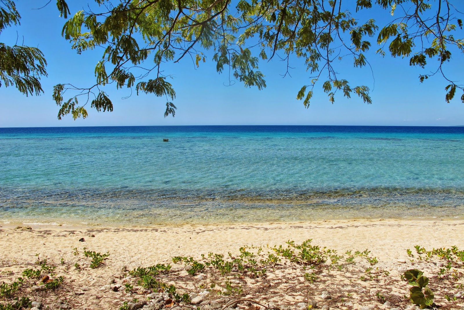 Costa Sur da Península Áncon, no Caribe de Cuba.