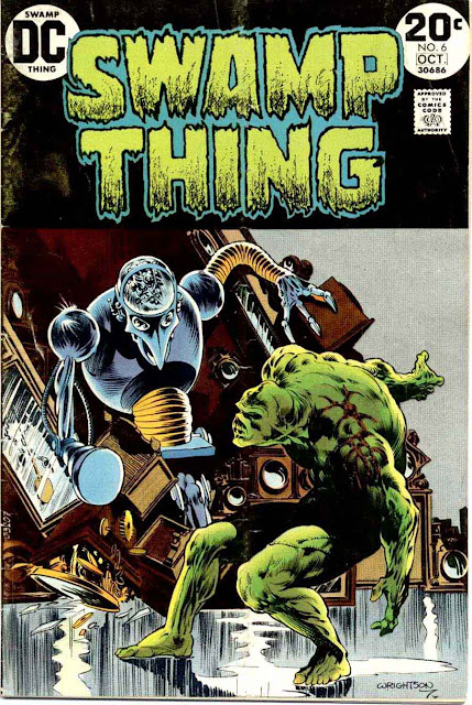 Swamp Thing v1 #6 1970s bronze age dc comic book cover art by Bernie Wrightson