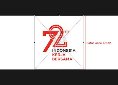 aturan batas aman logo resmi HUT ke-72 RI - www.topikramdani.com