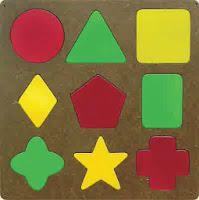 Mainan Puzzle Kayu Geometri