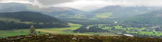 A panoramic view from Craig Vallich, Ballater, Deeside