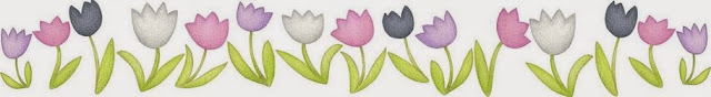 Tulips: Free Printable Borders and Corners.