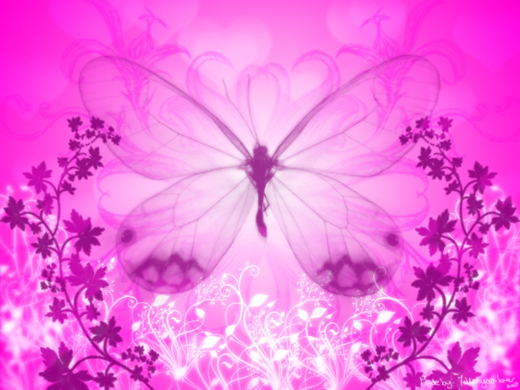 Funny wallpapers|HD wallpapers: Pink butterflies wallpaper