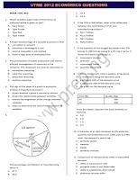 JAMB/UTME 2012 ECONOMICS QUESTIONS (TEXT)