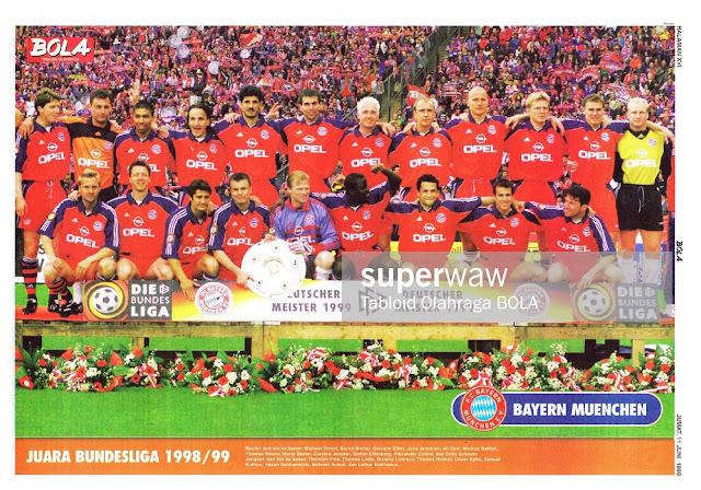 BAYERN MUENCHEN BUNDESLIGA CHAMPION 1998