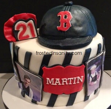 Boston Red Sox 21st Birthday Cake