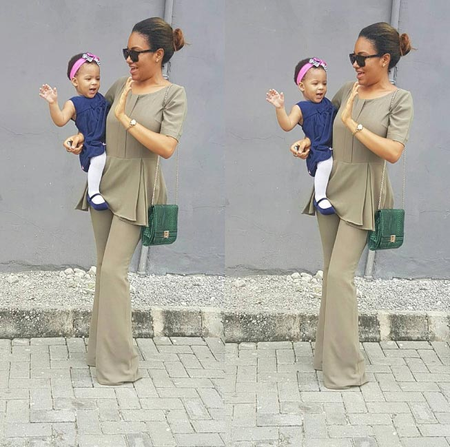 Aww! Anna Banner and her daughter Sofia step out for church