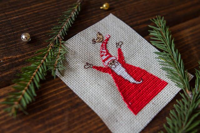 вышивка крестом деде мороз