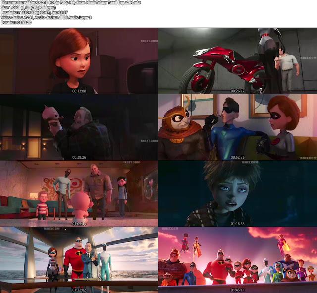 Incredibles 2 2018 Hindi+Telugu Full 720p Free Download