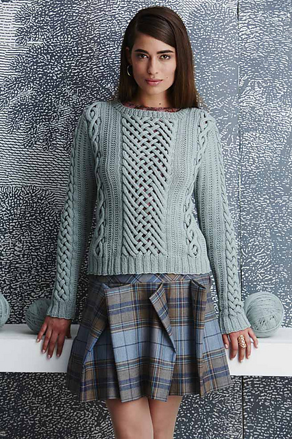 Fretwork Pullover by Shiri Mor (Vogue Knitting Magazine) on the Dayana Knits blog