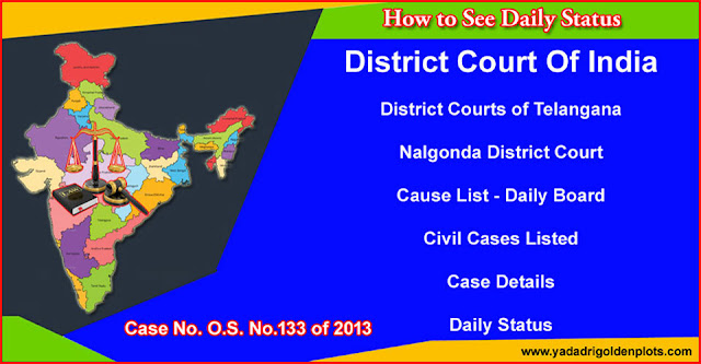 Bhongir Court O.S. No.133 of 2013 Daily Status