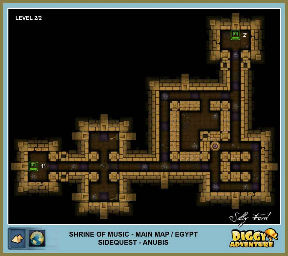 Diggy's Adventure Walkthrough: Egypt Main / Shrine of Music Level 2