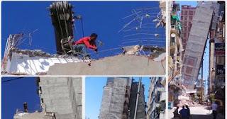 عقار الأزاريطة المائل فى الإسكندرية.. كارثة تؤكد فساد المحليات المتنامي بالمدينة