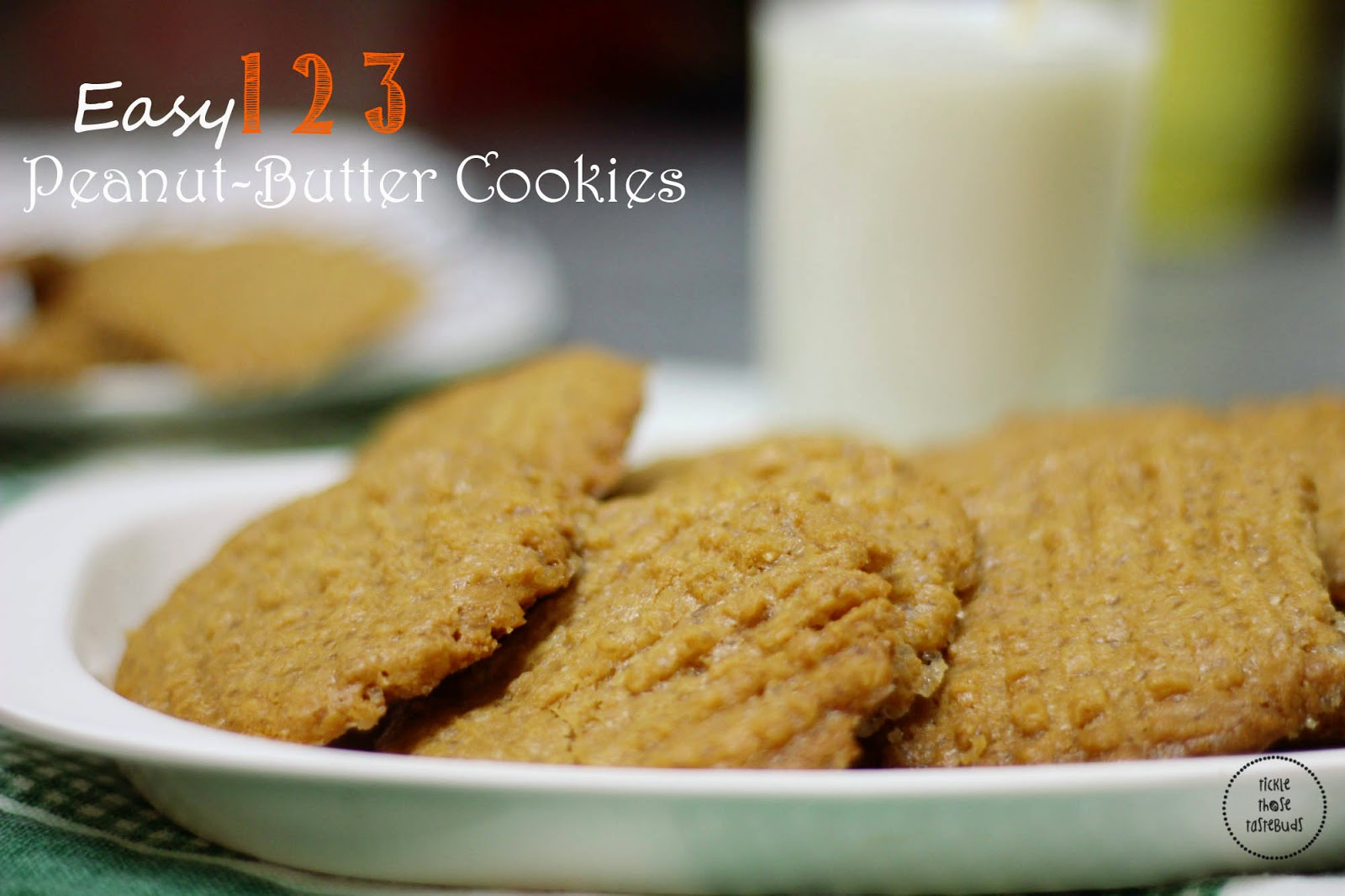 Easy-123-Peanut-Butter-Cookies-Ticklethosetastebuds