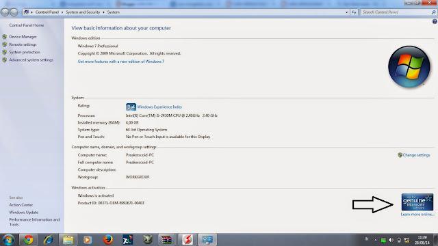 Pada kesempatan ini aku akan bagikan lagi tips wacana bagaimana cara biar pada windows Menjadikan Windows 7 Menjadi Genuine