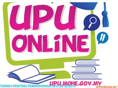 Kalendar Tarikh Penting UPU Sesi Akademik 2018/2019
