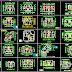 مجموعة مخططات تقسيم لمنازل سكنية اتوكاد dwg