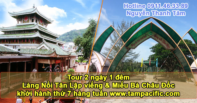 Tour Làng Nổi Tân Lập viếng Miếu Bà Châu Đốc khởi hành thứ 7 hàng tuần