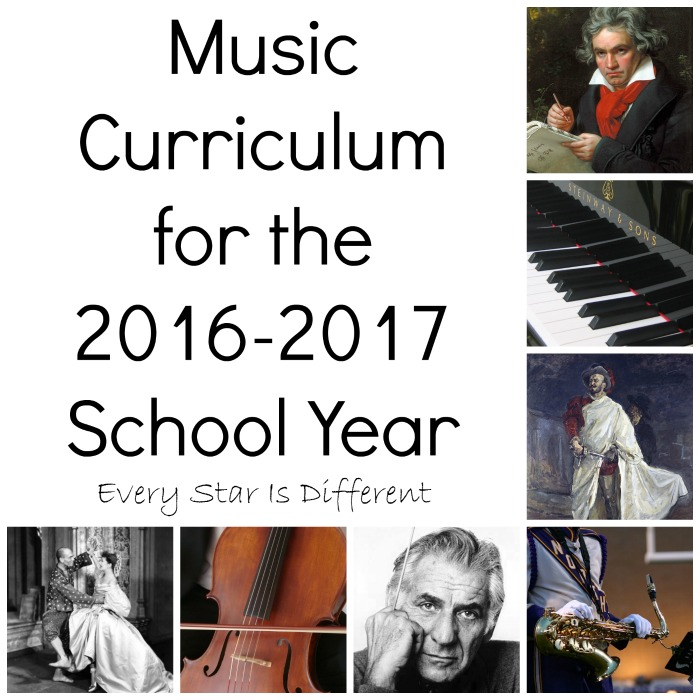 Music Curriculum for 2016-2017 School Year