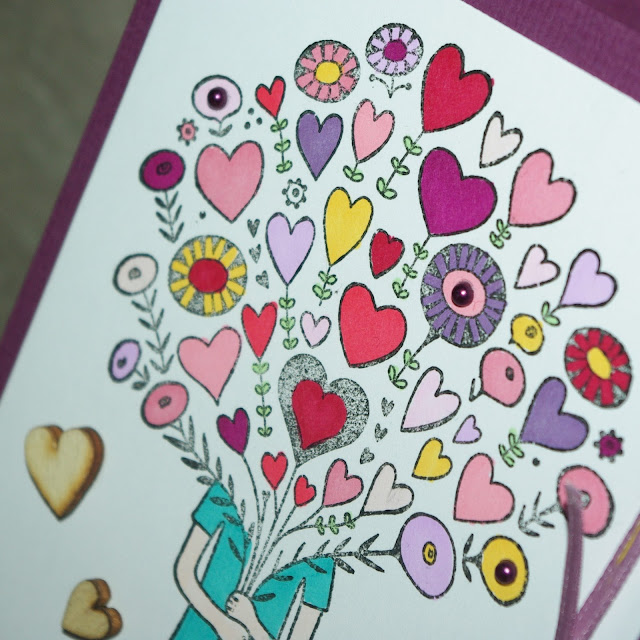 [DIY] Bouquet of Hearts: Mother´s Day Card // Ein Blumenstrauß voller Herzen: Karte zum Muttertag
