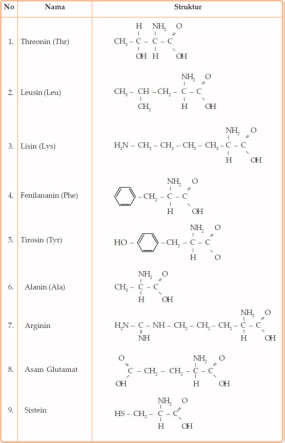 Rumus kimia asam amino pdf