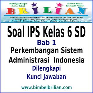 Download Soal IPS Kelas 6 SD Bab 1 Perkembangan Sistem Administrasi Indonesia Dan Kunci Jawaban