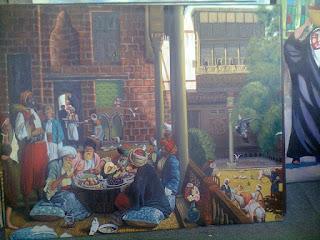 لوحة بيع السجاد في بغداد قديما