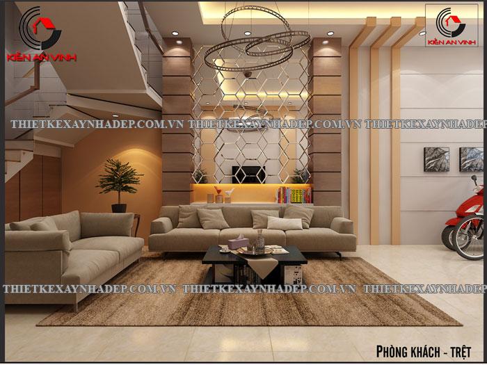 Mẫu thiết kế nhà ống 2 tầng diện tích 4x14 ở quê gia đình chị Lan Phong-khach-triet2