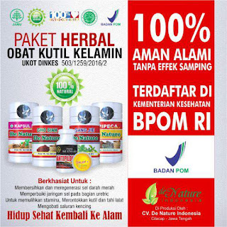 DE NATURE INDONESIA OBAT KUTIL KELAMIN