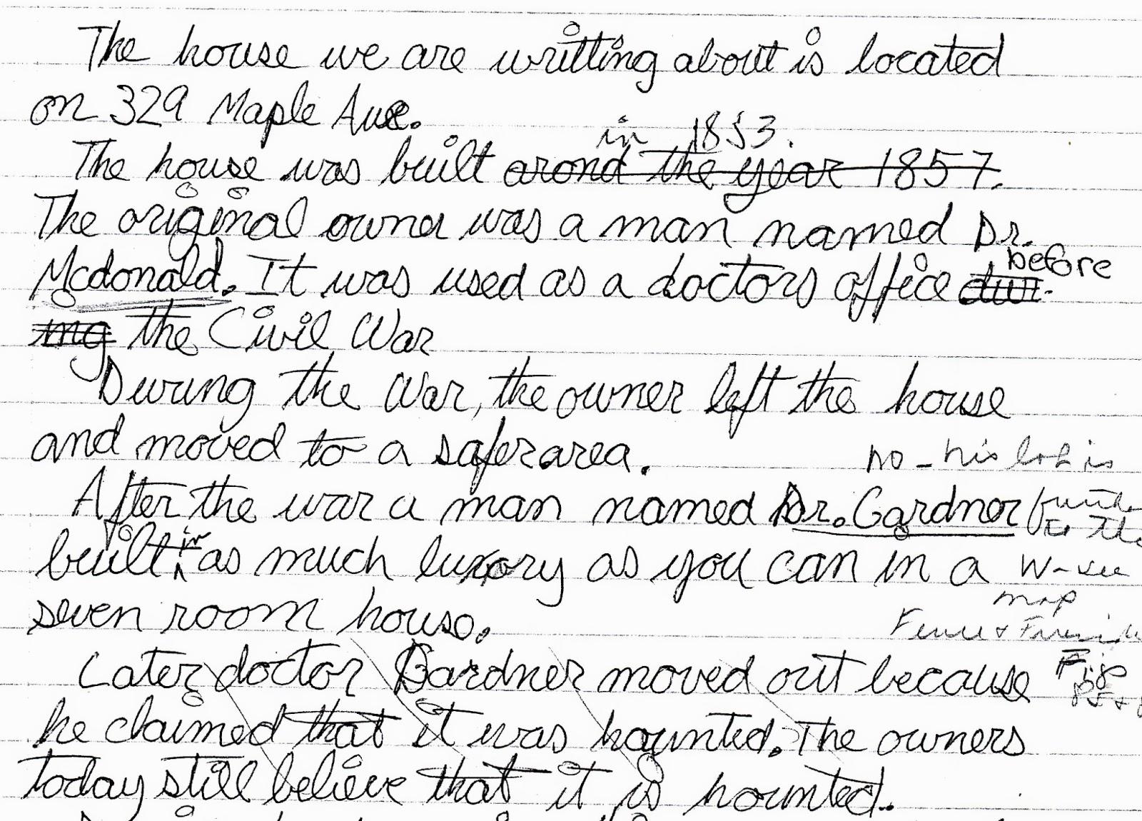 Description of a room essay
