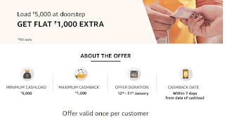 Amazon Doorstep Cashload Offer
