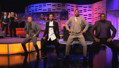 WILL SMITH, JADEN SMITH, DJ JAZZY, JEFF and ALFONSO RIBEIRO