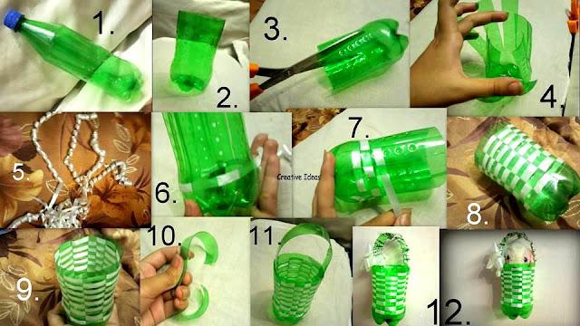 Kreativiti Kitar Semula Botol Plastik Inginkan