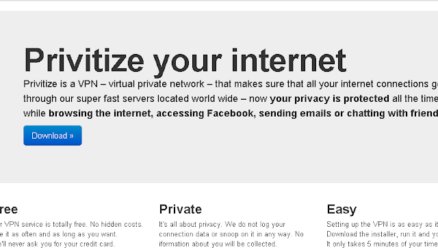 The Pirate Bay have nothing to do with Free VPN service
