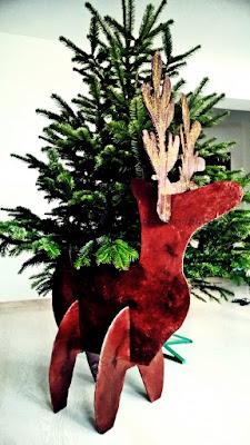 Renifer z kartonu - dekoracja świąteczna