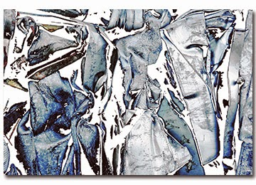 abstract, canvas print, blue, white, black, wall art