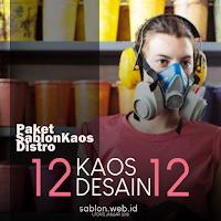 Harga Sablon Kaos Distro 12 Pcs Campur Desain