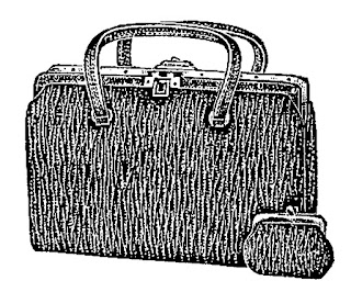 purse fashion vintage illustration digital image
