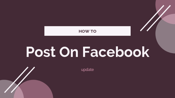 How To Post To A Facebook Page<br/>