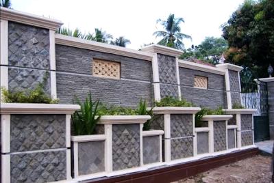 model pagar rumah batu alam