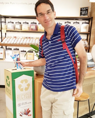 Toothbrush and toothpaste tube recycling at Biome stores