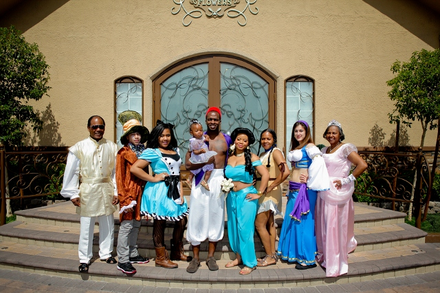 An Aladdin Costumed Wedding