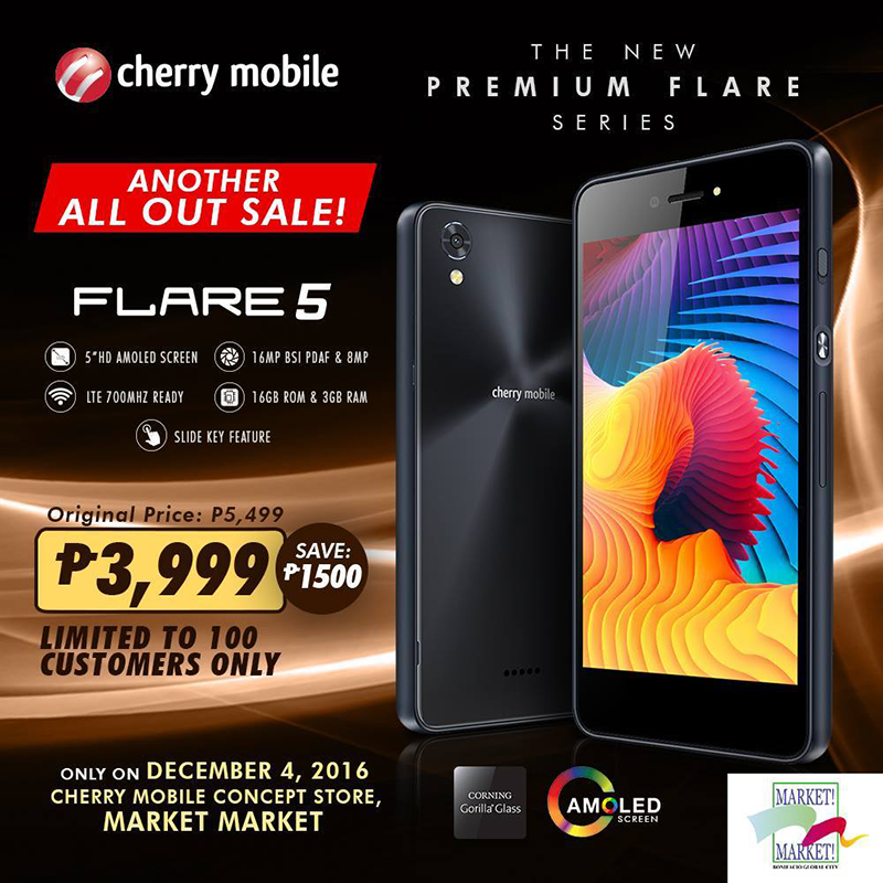Super Sale Alert: Cherry Mobile Flare 5 Is Priced At PHP 3999 For One Day Only!