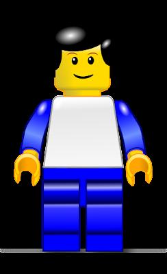 A Lego man figure.